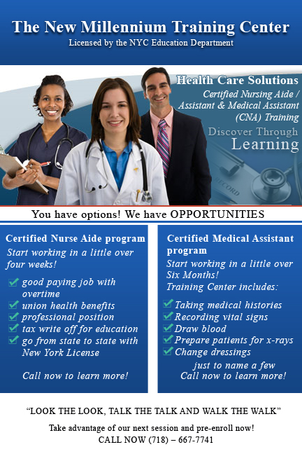 the new millennium training center - medical assistant training ...
