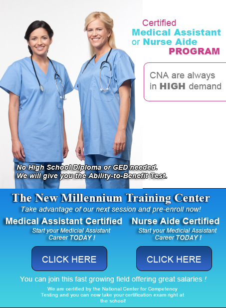 The New Millennium Training Center  Medical Assistant Training